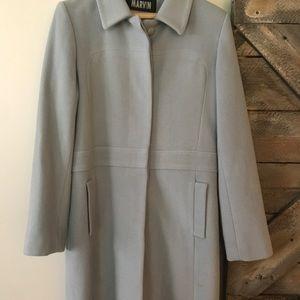 Marvin Richards knee length pea coat